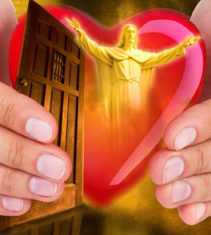 door jesus heart